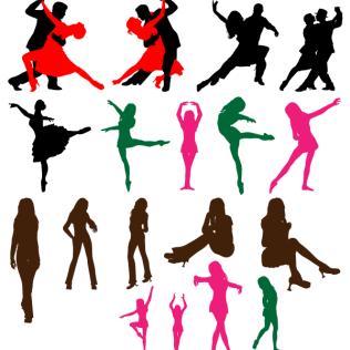 316x316 Dancing Couple Clip Art Image 123freevectors