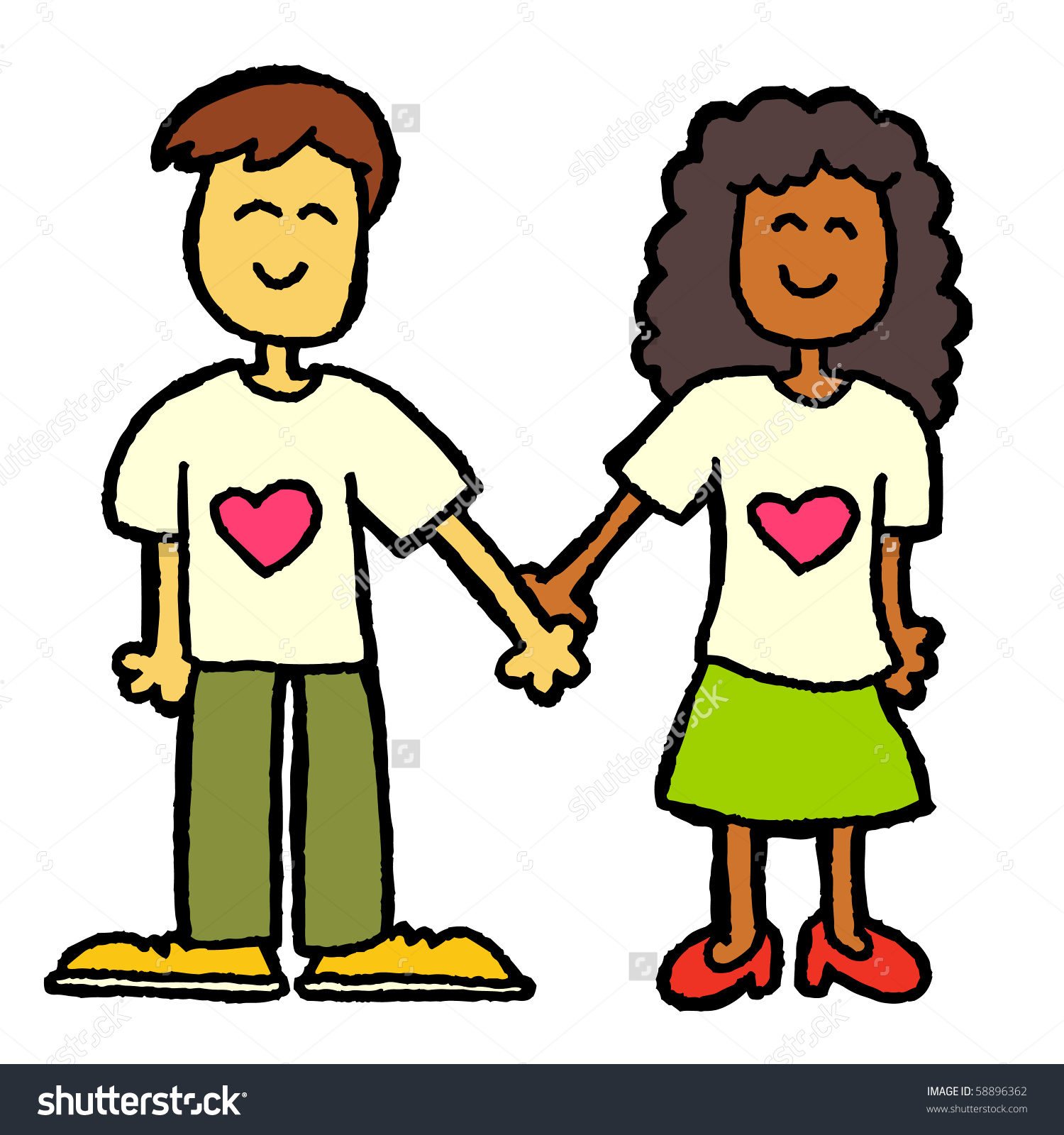 1500x1600 Interracial Couple Clipart Amp Interracial Couple Clip Art Images