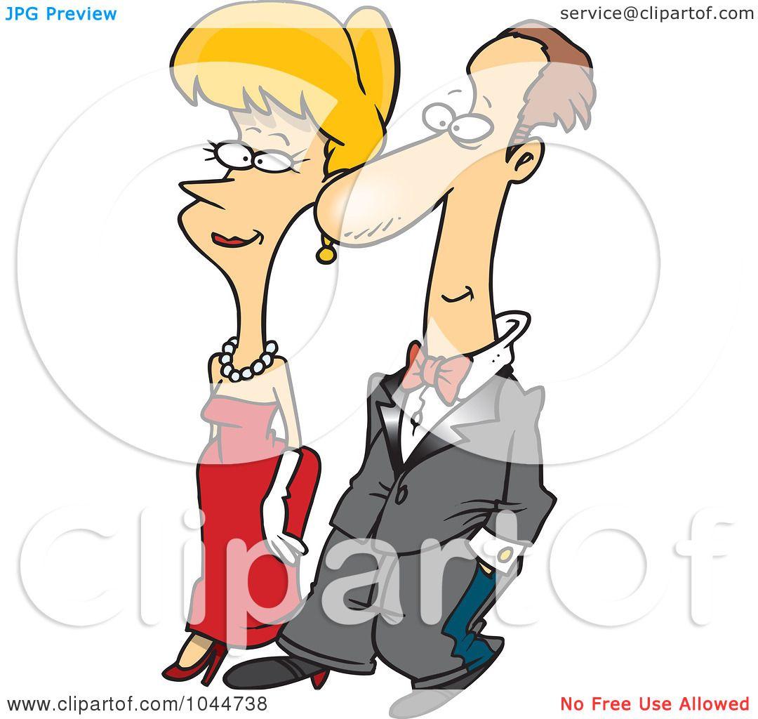 1080x1024 Royalty Free (Rf) Clip Art Illustration Of A Cartoon Formal Couple
