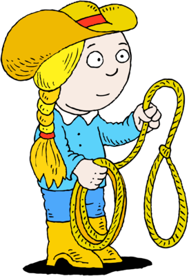 274x400 Image Cowgirl With Lasso Christart Clipart Image