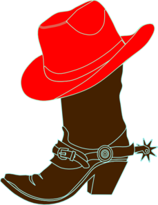 229x297 Red Cowgirl Hat And Boot Clip Art
