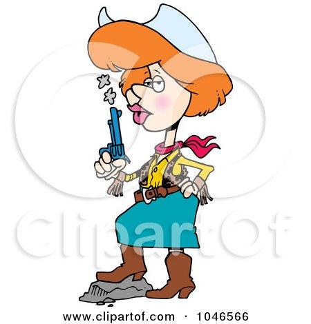 450x470 Royalty Free (Rf) Clip Art Illustration Of A Cartoon Cowgirl
