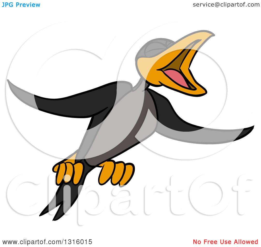 1080x1024 Clipart Of A Cartoon Crow Black Bird Flying And Cawing