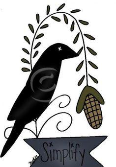 236x341 Crow Clipart Primitive
