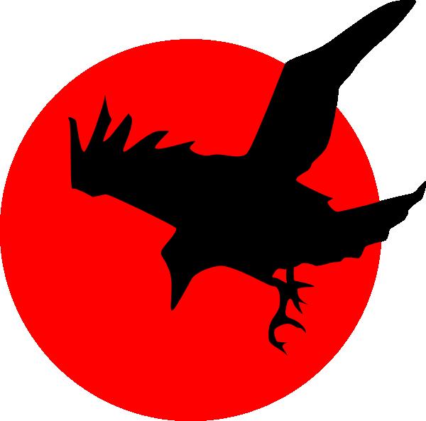 600x593 Raven Clip Art Raven On Red Clip Art