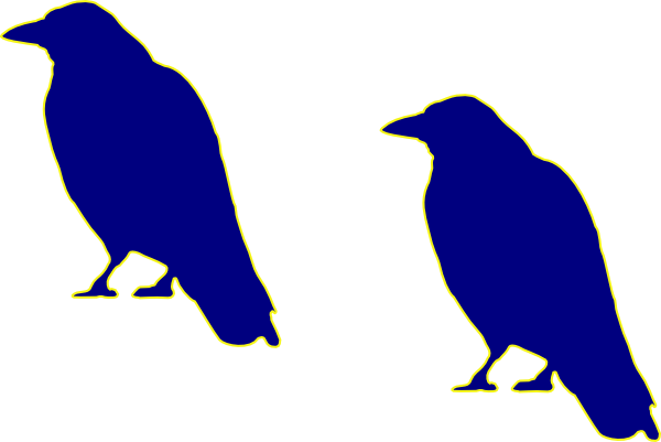 600x401 Blue Crow Clip Art