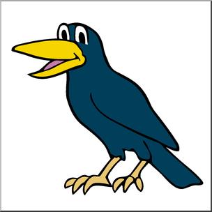 304x304 Clip Art Cartoon Crow Color I Abcteach
