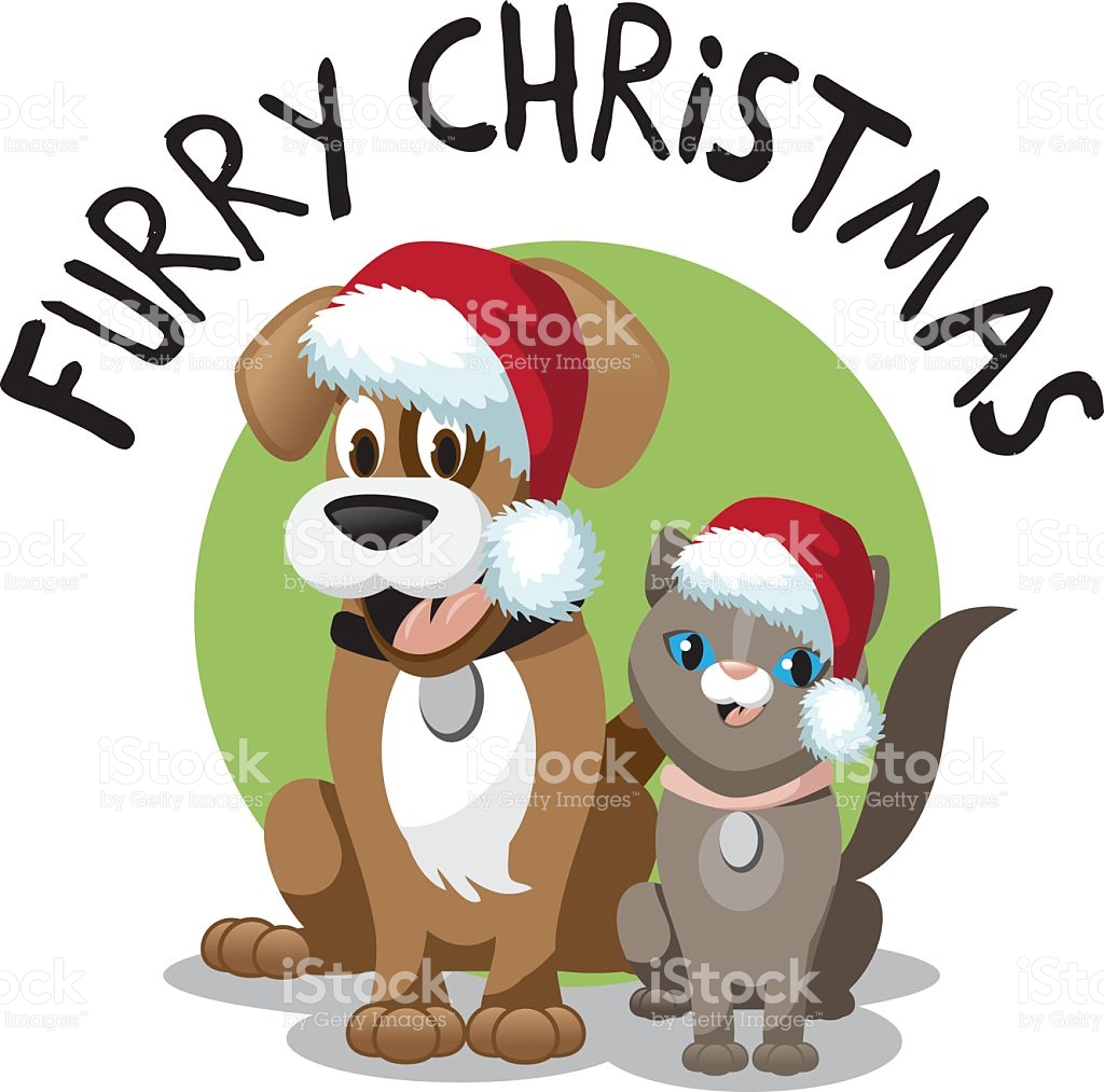 1024x1013 Dog And Cat Clip Art For Christmas Fun For Christmas
