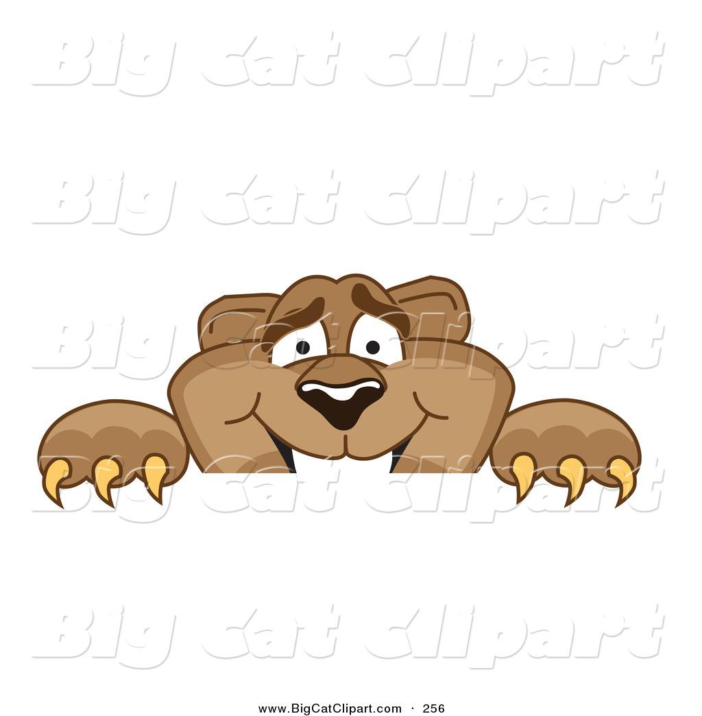 1024x1044 Big Cat Cartoon Vector Clipart Of A Cute Cougar Mascot Character
