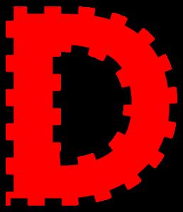 258x299 Letter D Clip Art
