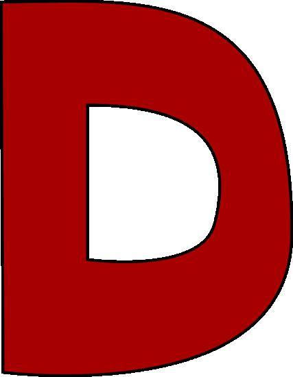 427x550 Clip Art D Red Letter D Clip Art Red Letter D Image Download