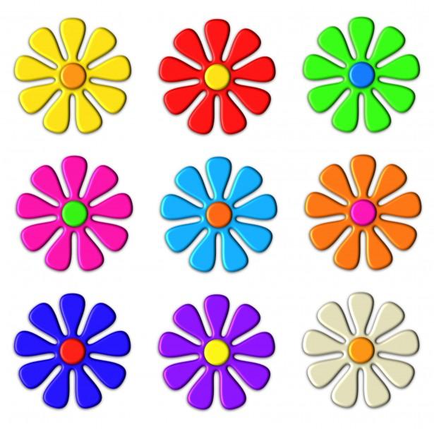 615x608 3d Flower Clip Art Free Stock Photo