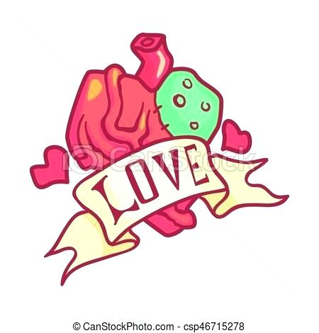 450x470 Anatomical Heart Clip Art Human Heart Design Over White Background