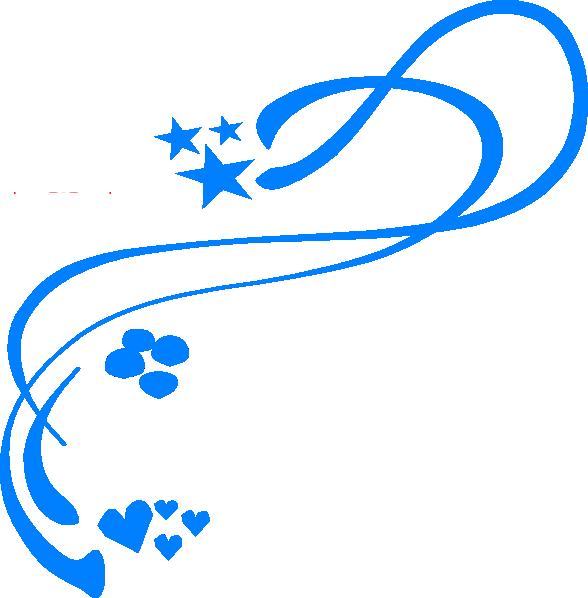 588x598 Blue Design Clip Art