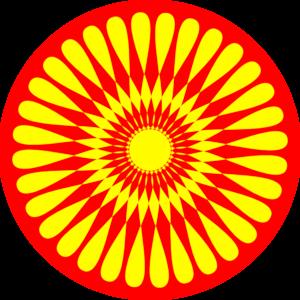 300x300 Circle Flower Design Clip Art