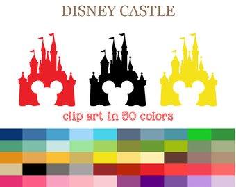 340x270 Castle Clipart Commercial Use Ok Colorful Disney Castle