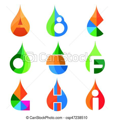 450x470 A B C D E F G H I Letters Set Of Logo Idea Template. Logo