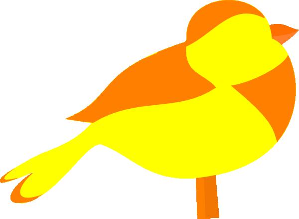 600x439 Yellow Bird Easy Clip Art