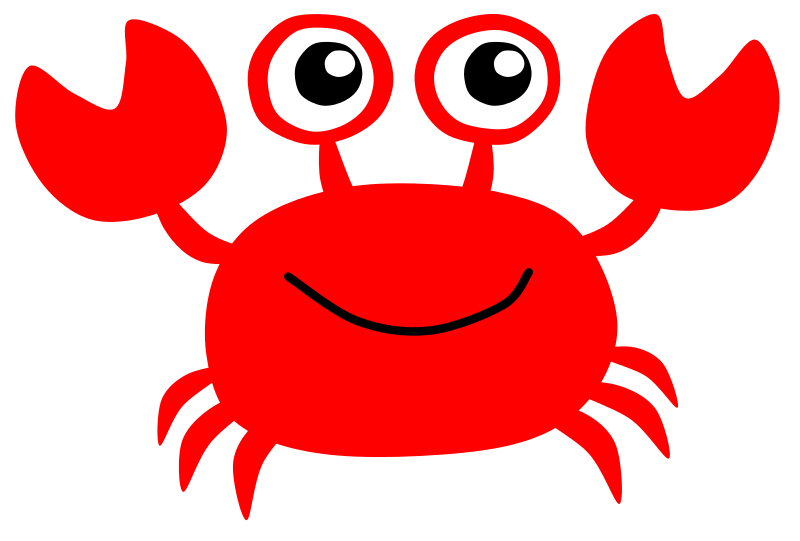 800x541 easy crab silouette Clip Art crab7 Baby shower ideas