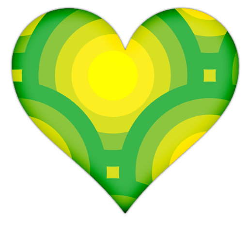 512x512 Heart With Green Circles Icon, Png Clipart Image