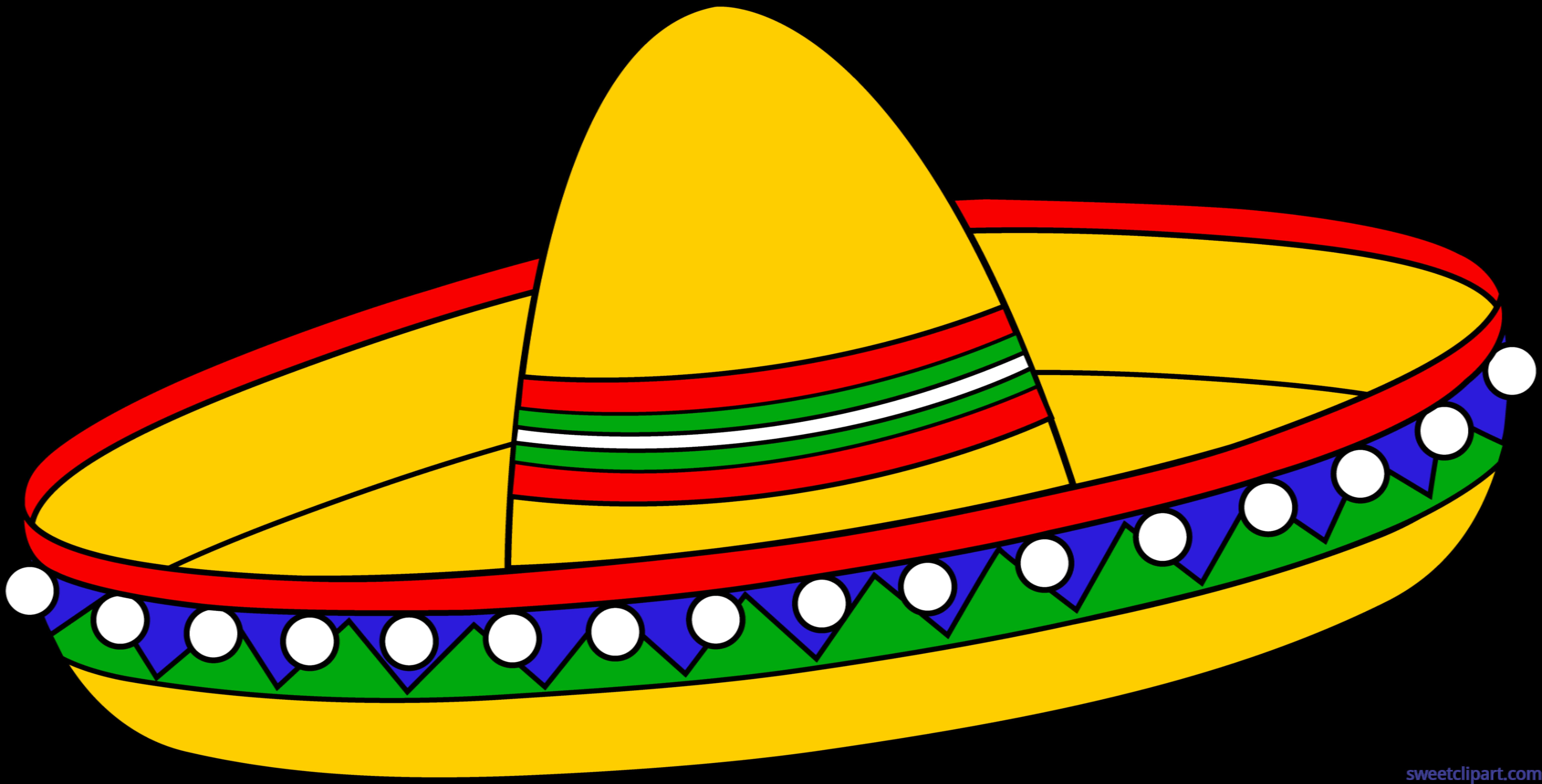 8783x4467 Sombrero Clip Art