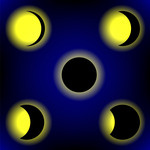 150x150 Colorful Solar Eclipse Royalty Free Vector Clip Art Image