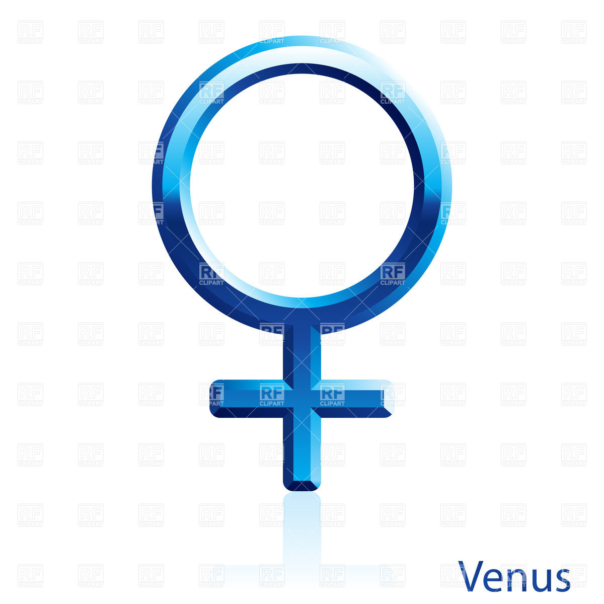 1200x1200 Shiny Blue Venus Sign On White Background Royalty Free Vector Clip