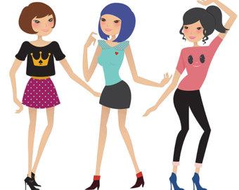 340x270 Fashion Lady Clip Art Fashion Girl Digital Shopping Ladies