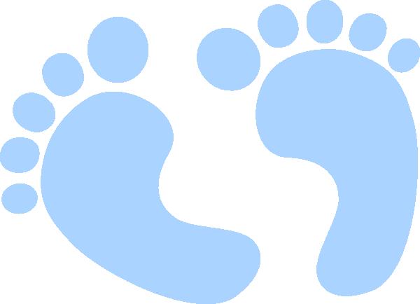 600x434 Blue Baby Feet Clip Art
