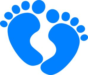 298x255 Baby Boy Feet Clip Art Clipart