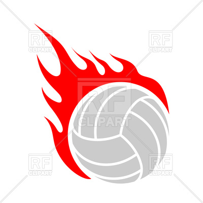 400x400 Vector Clipart Fire Volleyball Royalty Free Vector Clip Art Image