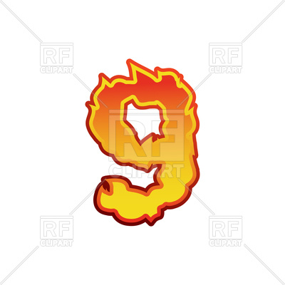 400x400 Fire Clipart Free Number 9 Fire Font Royalty Free Vector Clip Art