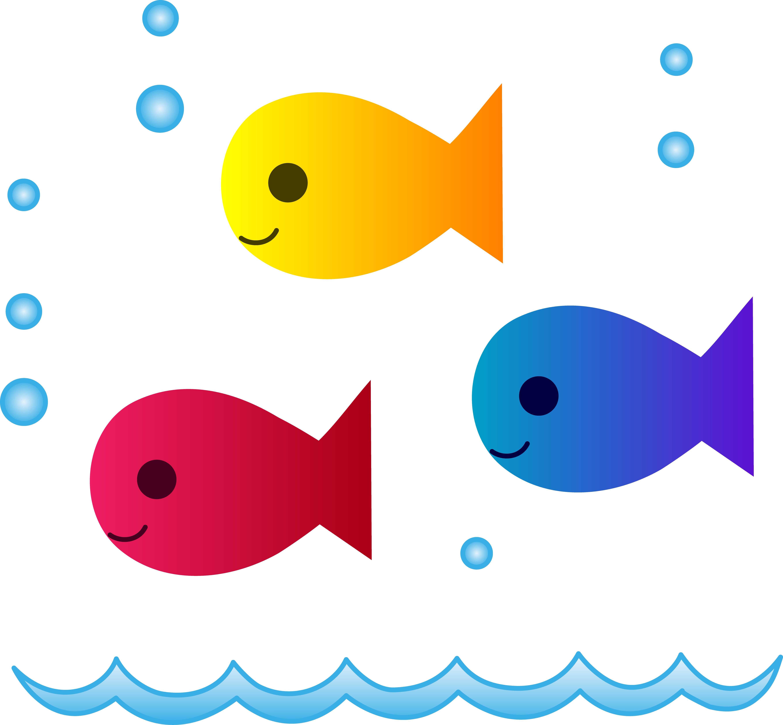 5434x5031 Cute School Of Fish Swimming