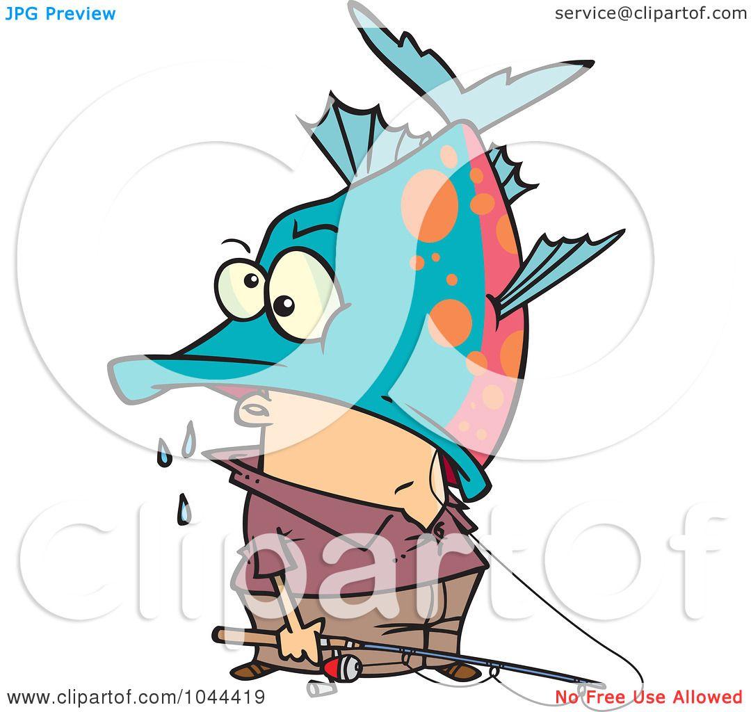 1080x1024 Royalty Free (Rf) Clip Art Illustration Of A Cartoon Fisherman