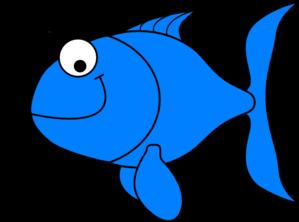 299x222 Startling Clip Art Fish Blue Green Goldfish Clipart Black
