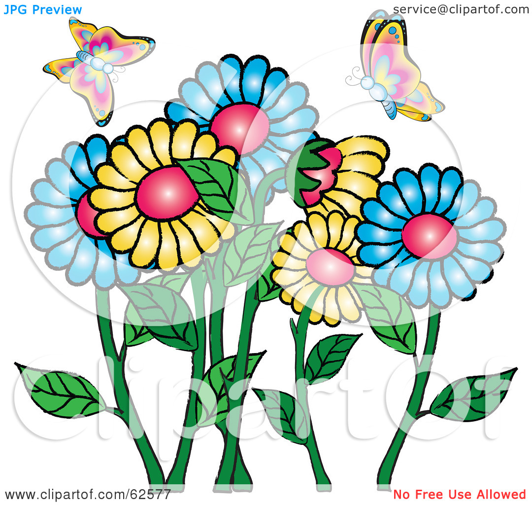 Clipart Flowers And Butterflies At Getdrawings Free For