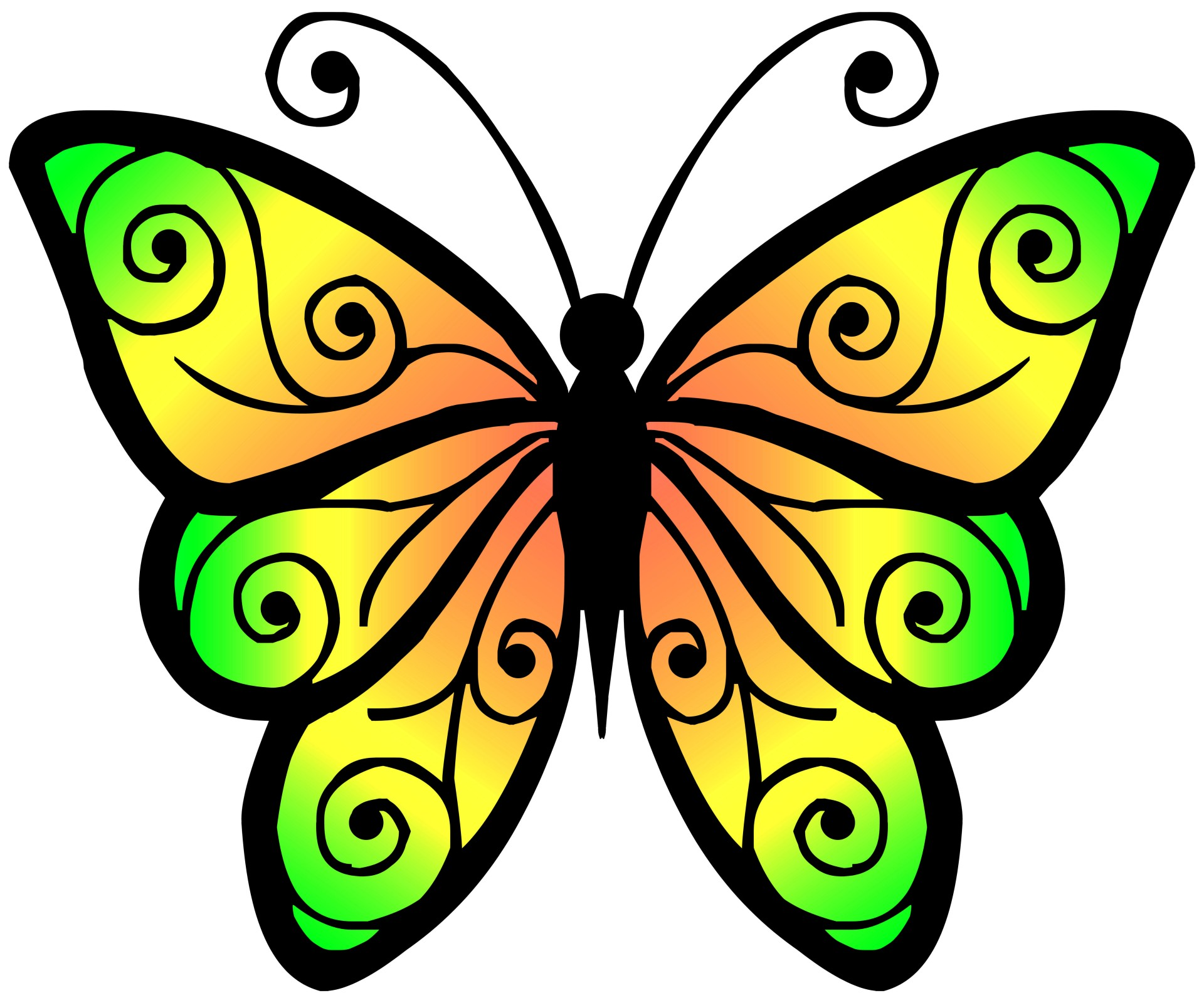 1920x1600 Clip Art Of Butterflies And Flowers Images On Page 0 Yanhe Clip Art