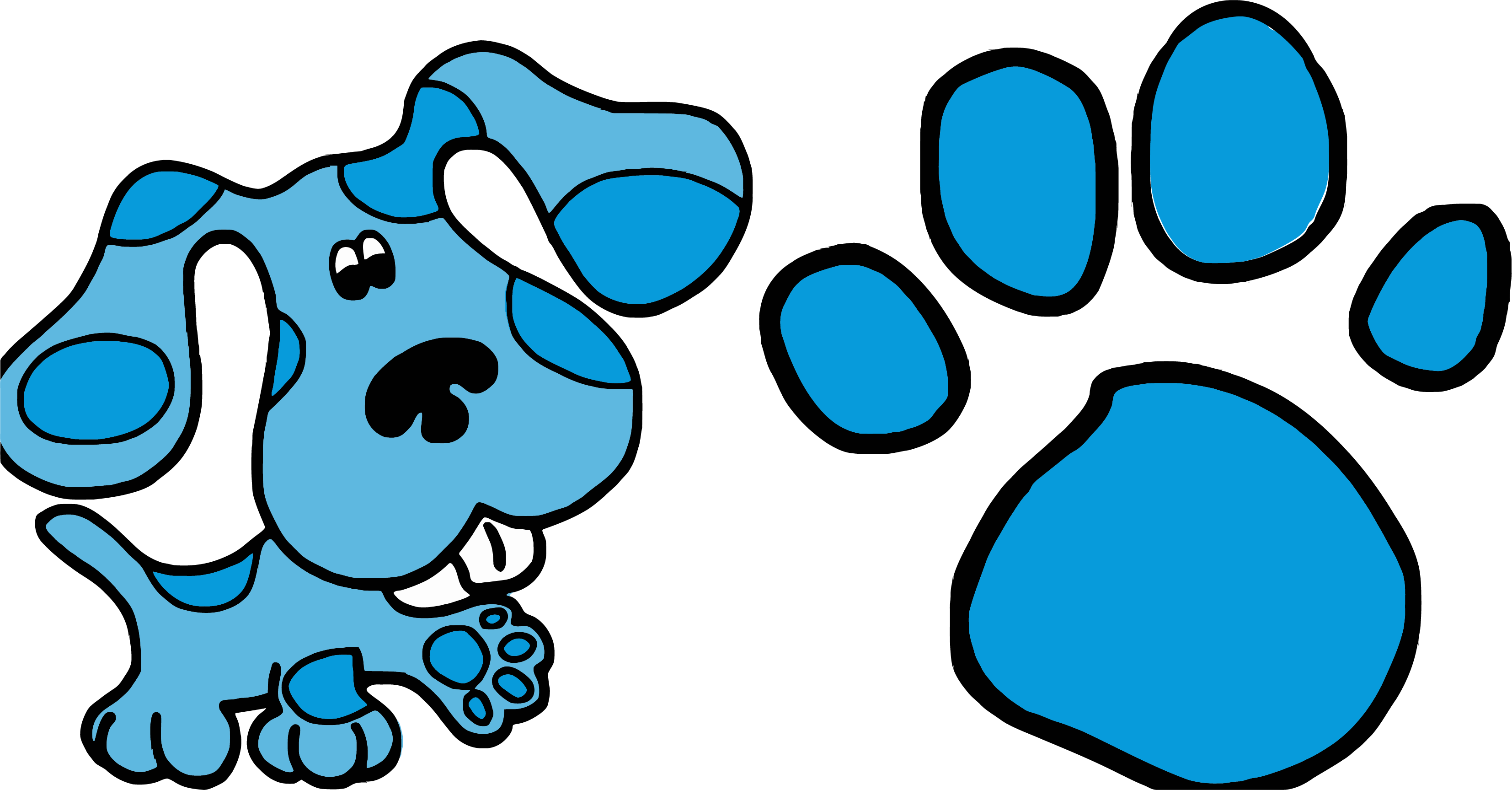 3307x1727 Blue's Clues Clip Art And Footprint Clipart Png