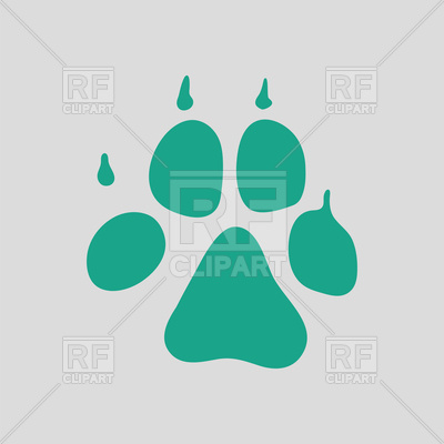 400x400 Dog Footprint Icon Royalty Free Vector Clip Art Image