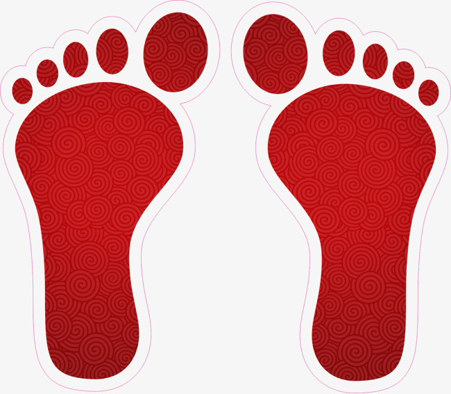 650x567 Footprint, Red, Foot, Clip Art Png Image And Clipart For Free Download