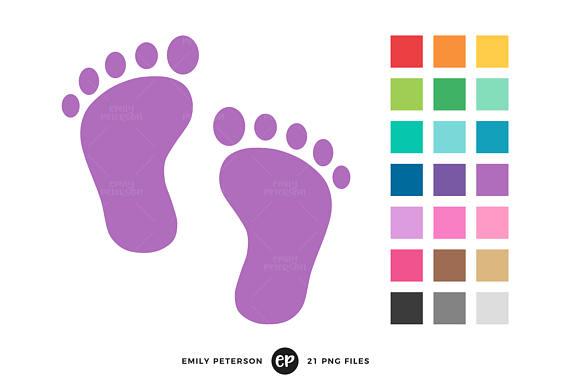 570x379 Baby Footprint Clip Art, Baby Shower Clipart, Nursery Clip Art