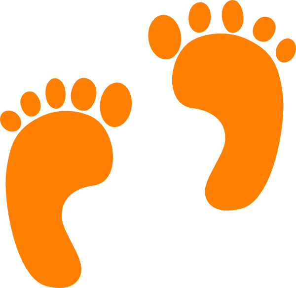 600x583 Footprint Clipart Orange Clip Art At Clker Com Vector Online