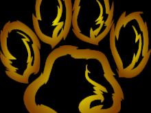 220x165 Lion Footprint Clipart Lions Paw Print Clip Art