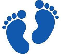 236x208 Baby Footprint Clip Art