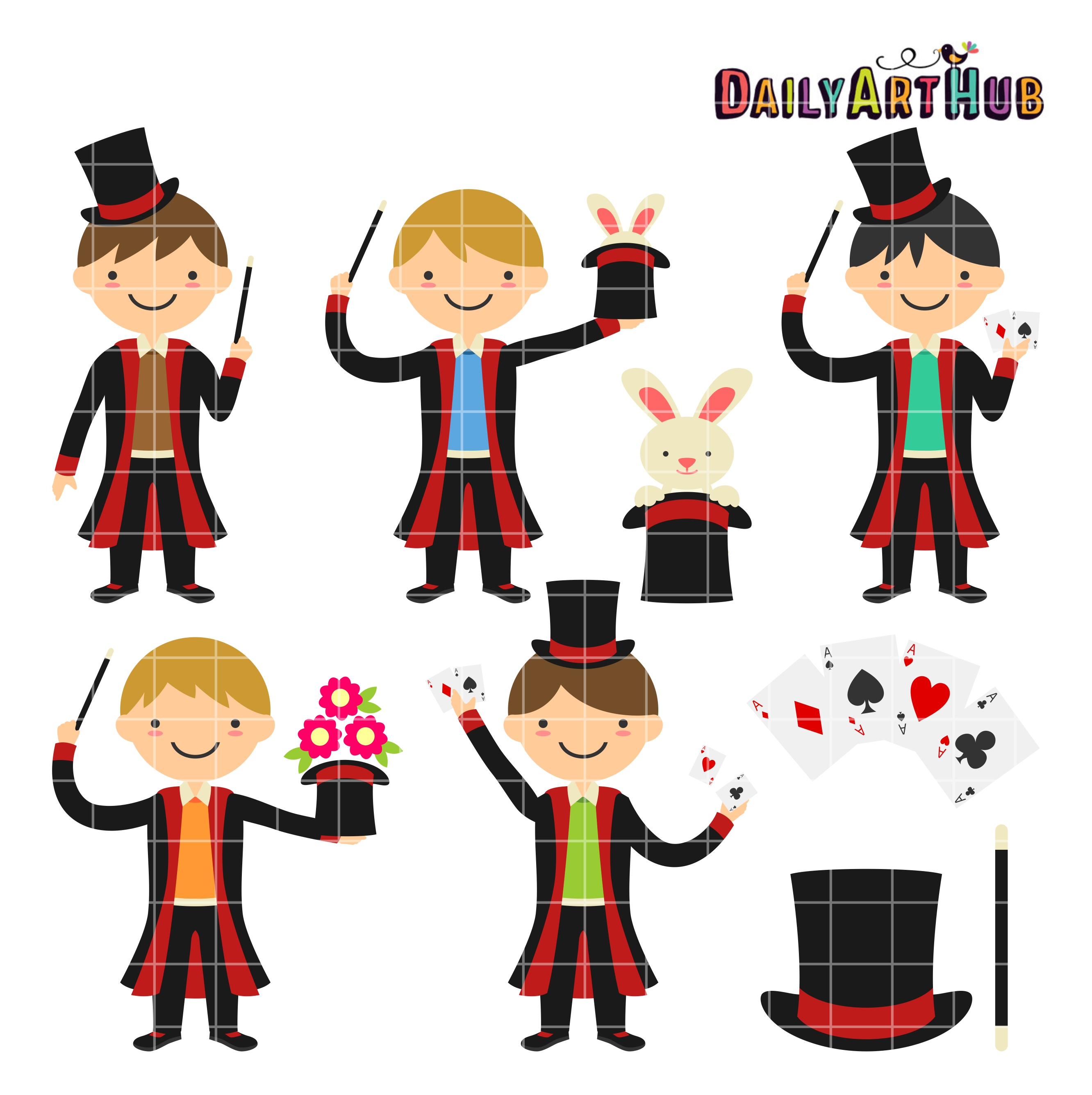 2664x2670 Magician Boys Clip Art Set Daily Art Hub Free Clip Art Everyday