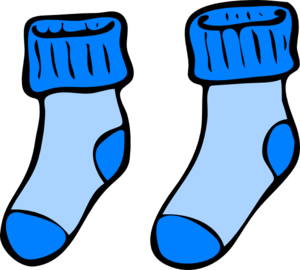 300x270 Blue Socks PNG, SVG Clip art for Web