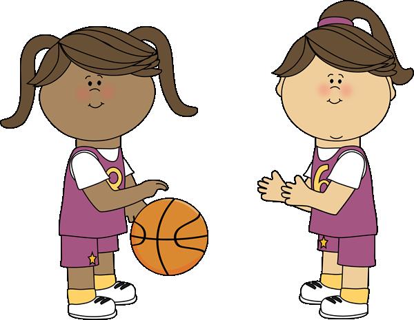 600x465 Girls Playing Basketball Clip Clipart Panda