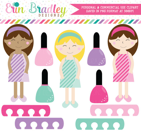 570x529 80% Off Sale Spa Day Girls Clipart, Spa Clip Art Graphics, Girls