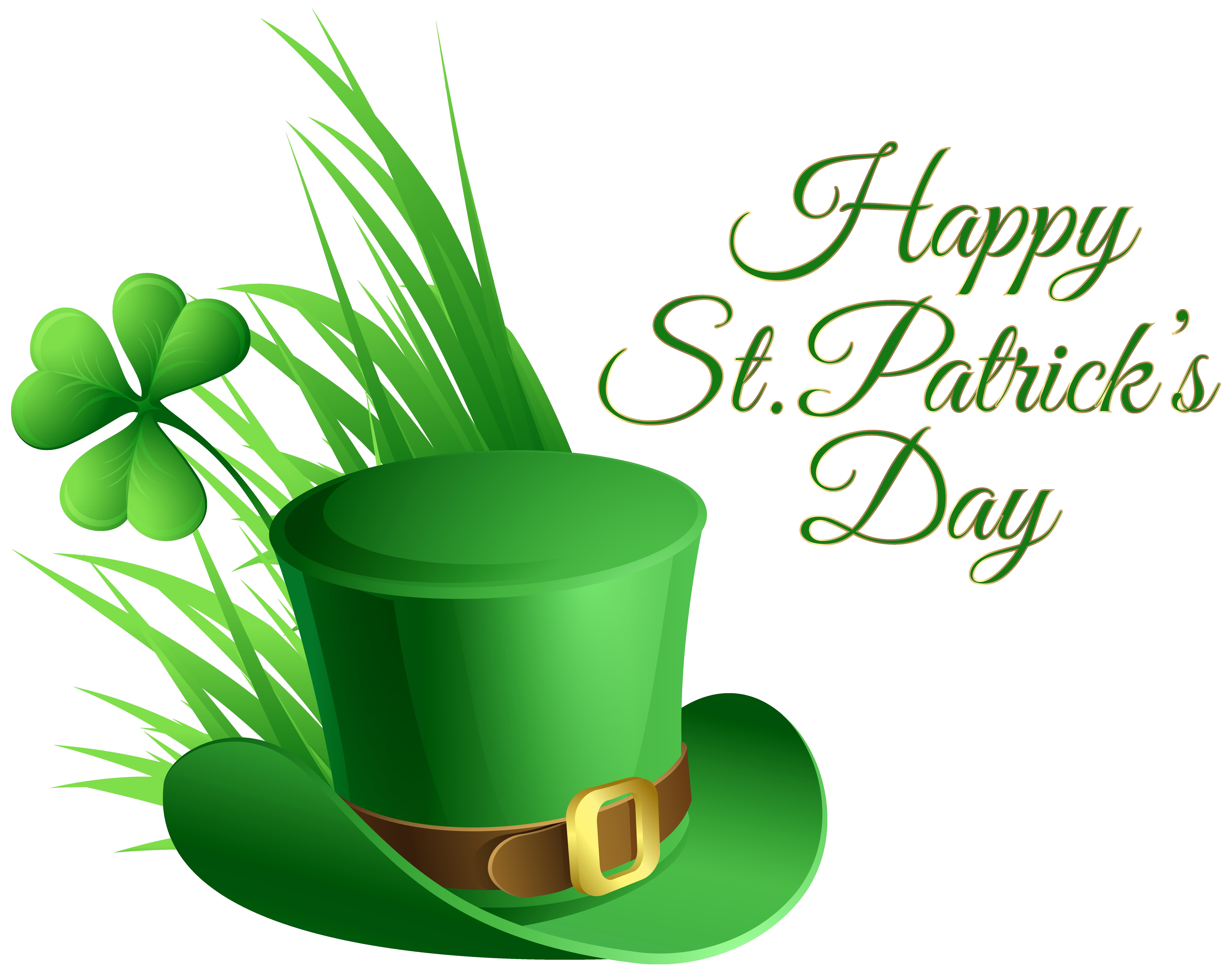 7246x5723 Rosa, Hat, Green St Patrick Day Clip Art