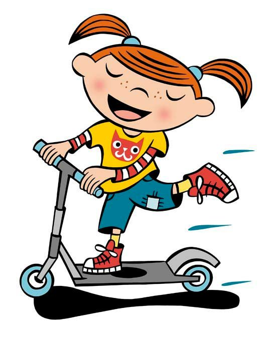 544x673 Scooter Clipart Kid Scooter